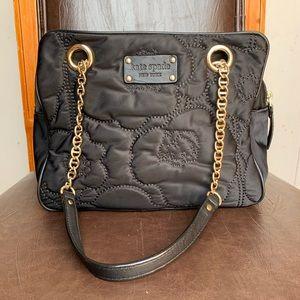 Kate Spade Black canvas shoulder bag